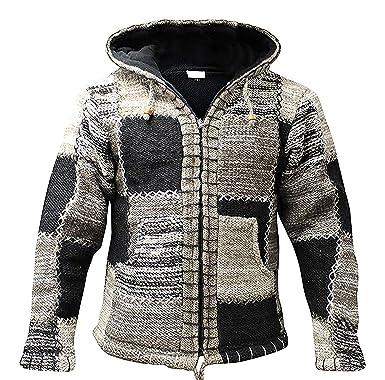 Shopoholic Moda Hombre Gris Lana Color Negro Con Capucha ...