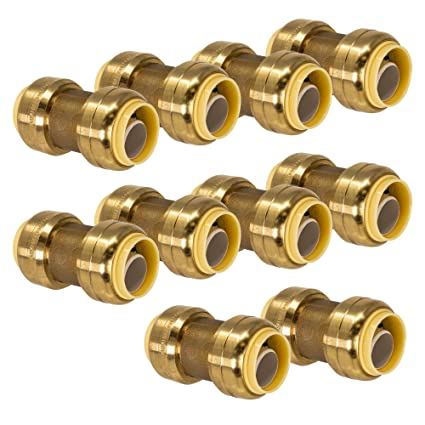 PROCURU 1/2-Inch PushFit Coupling - Push-to-Connect Plumbing Fitting for  Copper, PEX, CPVC, Lead Free Certified (0 5 Inch (1/2