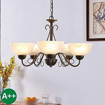 Hängeleuchte E27 Braun Modern Hängelampe Pendelleuchte Decke Lampe Beleuchtung