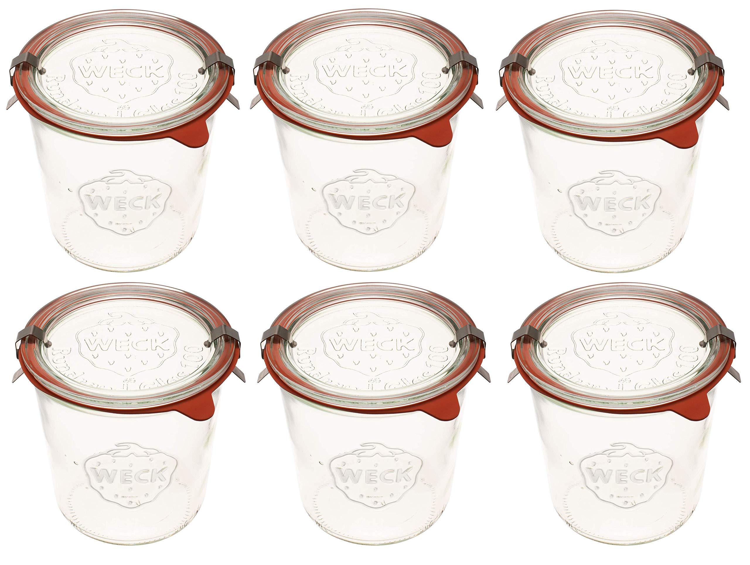Weck 742 Mold Jar - .5 Liter, Set of 6