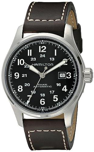 Hamilton Reloj Analogico para Hombre de Automático con Correa en Cuero H70625533: Amazon.es: Relojes