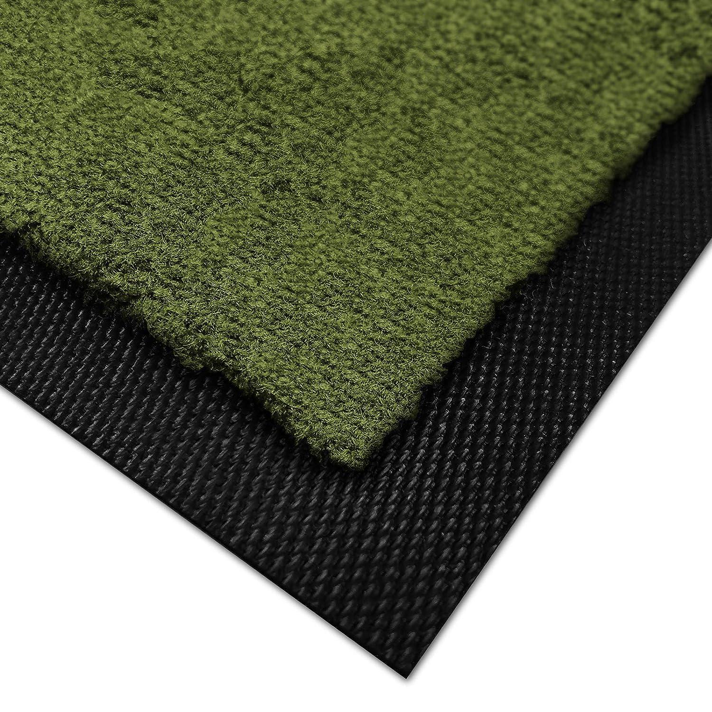 Casa pura Premium Fußmatte für Innenbereich     Schmutzfangmatte als Fußabtreter   mit Brandschutzklasse B1   in vielen Farben und Größen (Fuchsia B27-60x90 cm) B07L9B8FTW Fumatten 13c6cd