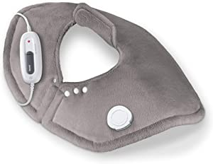 Beurer Portable Shoulder Heating pad, 6 Temperature Settings, Extra Soft Surface, Skin Friendly   UHP54, Grey