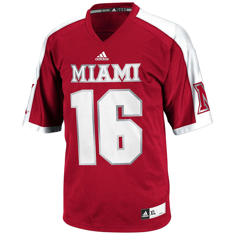 Amazon.com   NCAA Miami (Ohio) Redhawks Men s 3-Stripe Football Jersey d90e8c0ab