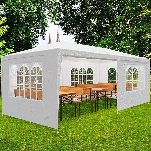 Deuba Pabellon Rimini Blanco cenador 3x6m Carpa Plegable protección UV 50 Resistente al Agua 6 Paredes jardín Eventos: Amazon.es: Jardín