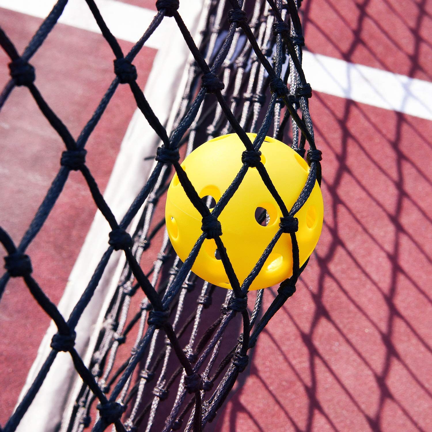 GRM Indoor or Outdoor Pickleball Balls Yellow 26 or 40 Holes Pickleball Ball Pack of 3