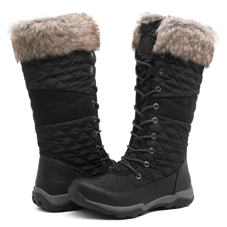 Globalwin Women's YY03 Black Fashion Snow Boots 9M