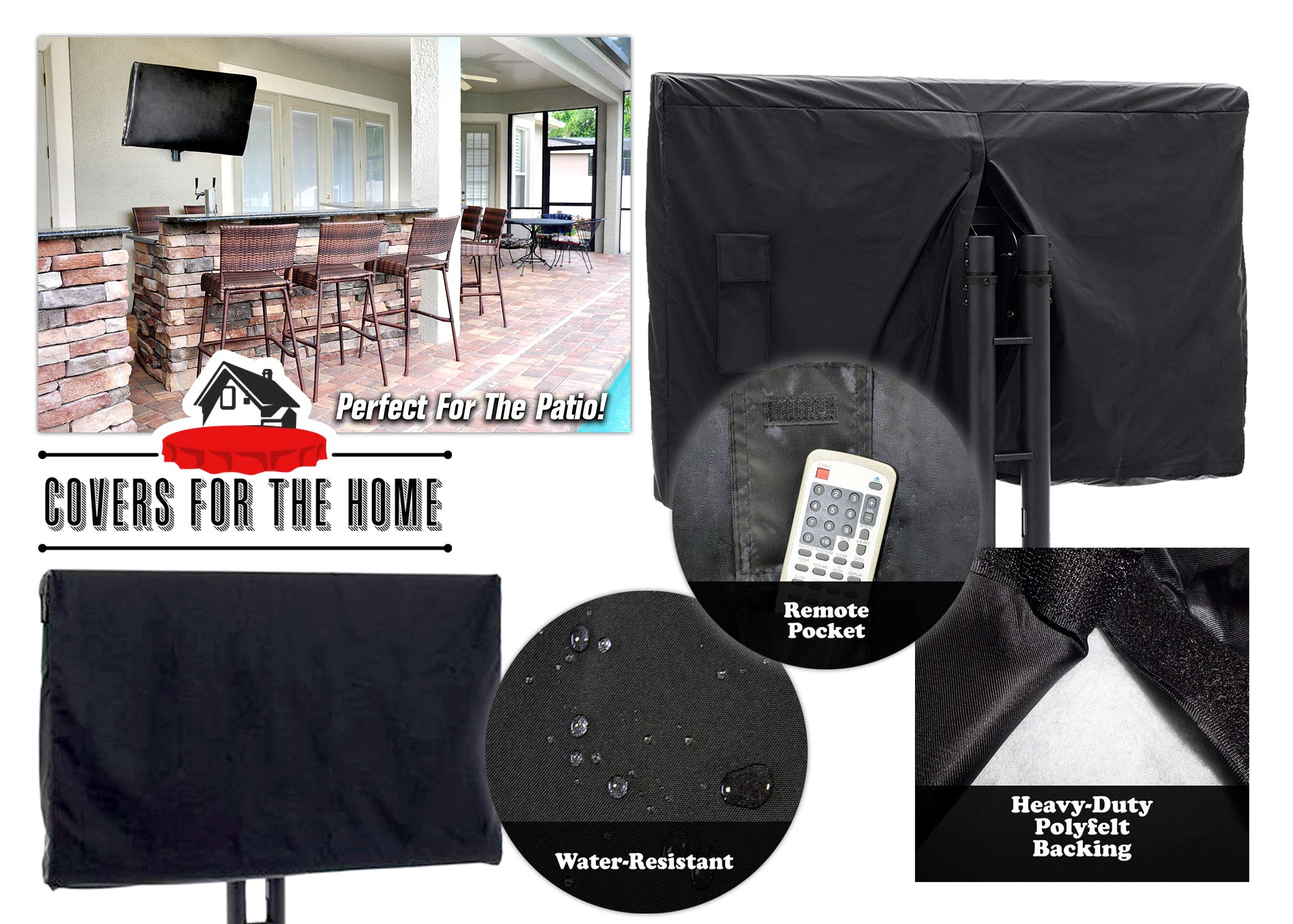 Premium Grade Indoor/Outdoor TV Cover - Fits 30'' - 32'' LCD, LED, Plasma TVs - Full Surface Coverage - Warranty - Premium Cover Flat Screen TV's by Covers For The Home (Image #1)