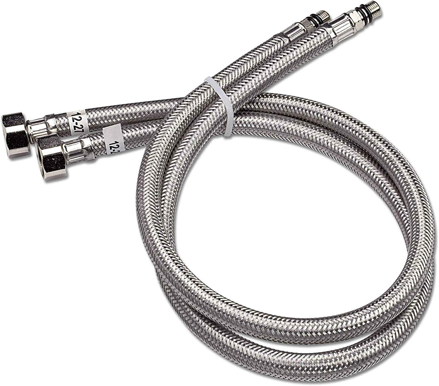 "Flexible Water Supply Hoses 3//8/"" OD 19/"" Long M10 Male Sink Faucet Vessel Connect"