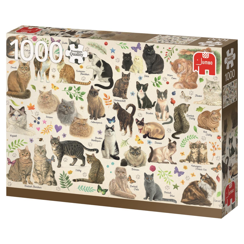 Jumbo- Poster de Gatos Puzzle de 1000 Piezas (18595.0 ...