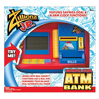 Zillionz Jr. Deluxe ATM Savings Bank, Standard Packaging: Toys & Games [5Bkhe1805436]