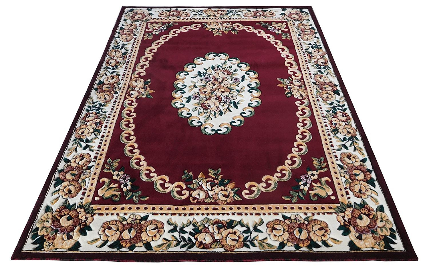 Buy carpets for living room 7 feet x 10 feet hand carved fine acrylic wool approx 1 inch thickness burgundy colour online at low prices in india amazon in