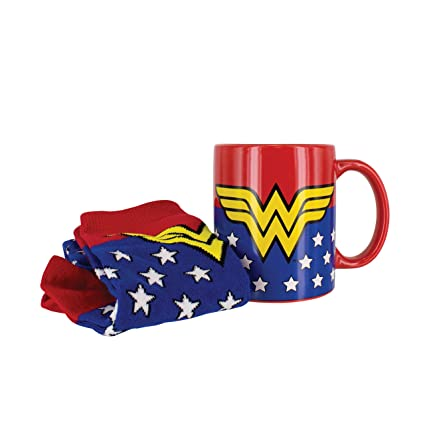 83e93d8da Image Unavailable. Image not available for. Color  Wonder Woman Mug   Sock  Set- Officially Licensed DC Comics Product
