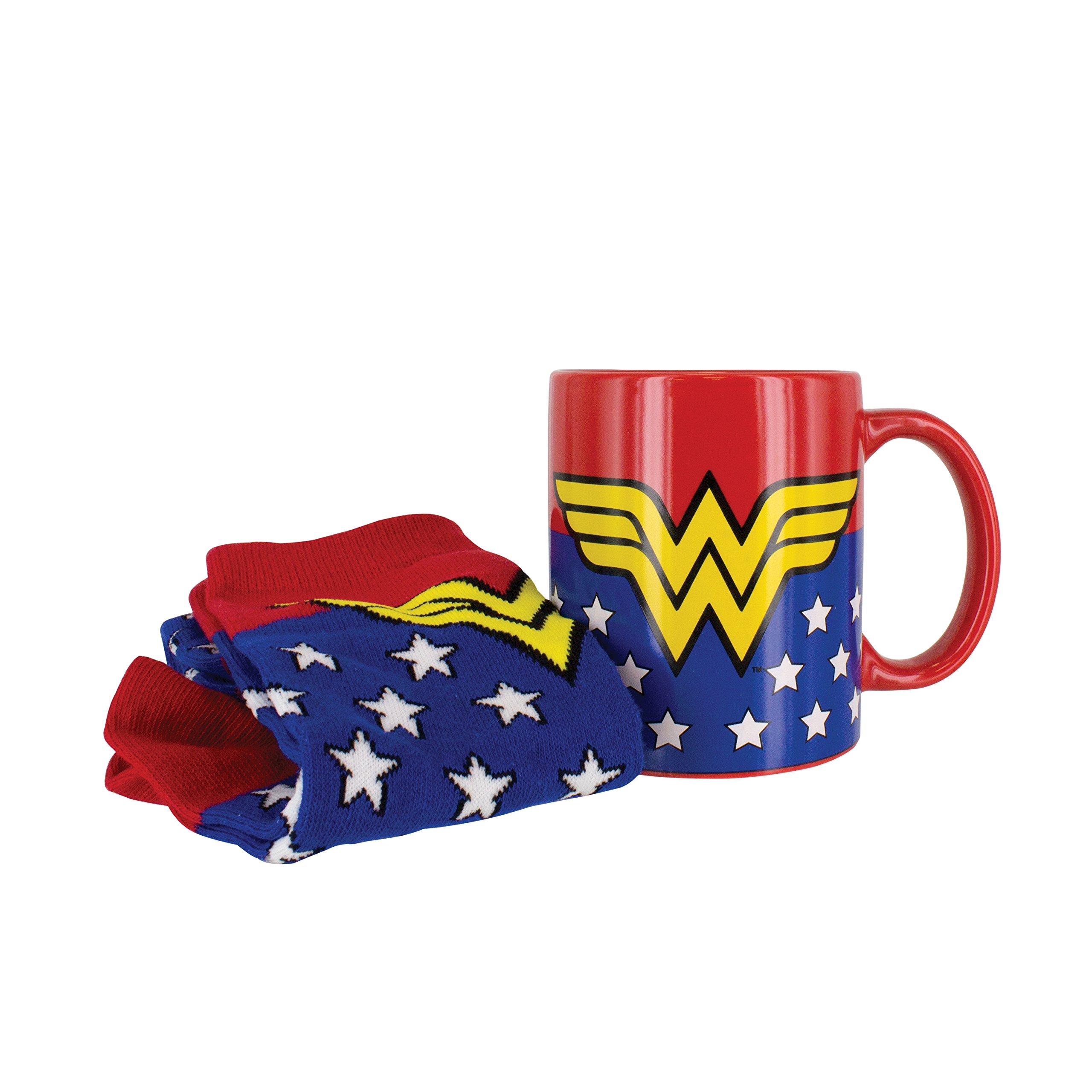 Wonder Woman Mug & Sock Set- Officially Licensed DC Comics Product