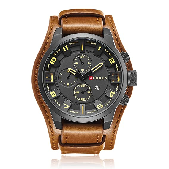 cd83fe81666 Image Unavailable. Image not available for. Color  Curren Men s Casual Sport  Quartz Watch Mens Watches ...