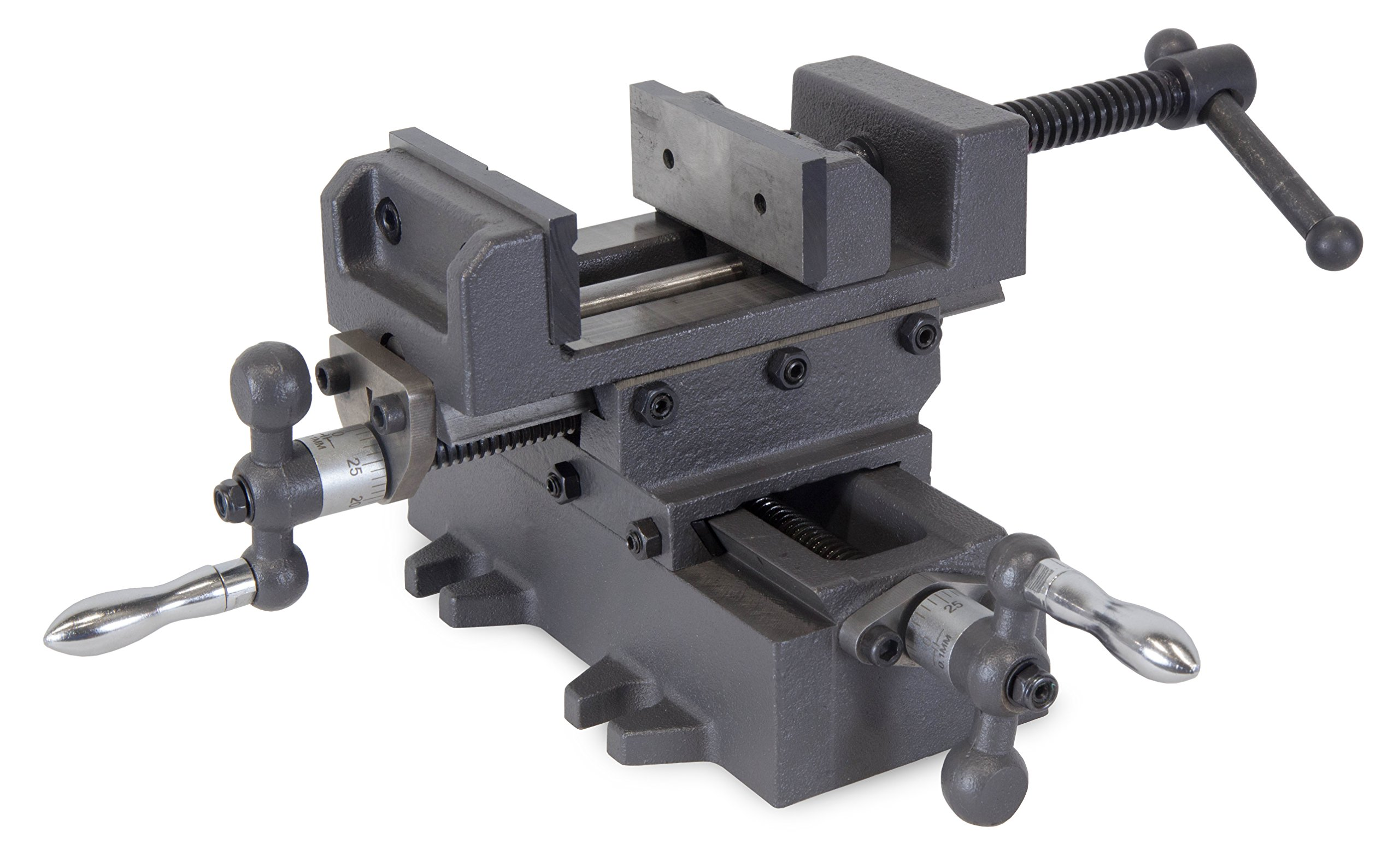 WEN 413CV 3.25'' Compound Cross Slide Industrial Strength Benchtop and Drill Press Vise