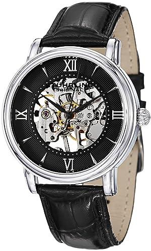 Stührling Original 458G2.33151Set - Reloj analógico para hombre, correa de cuero, color negro: Amazon.es: Relojes