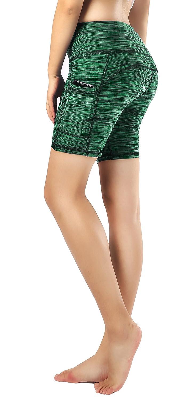 6 Sugar Pocket Women's Workout Leggings Running Tights Yoga Pants Red
