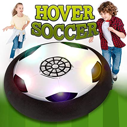 amazon com hover soccer ball electric air power soccer disc for