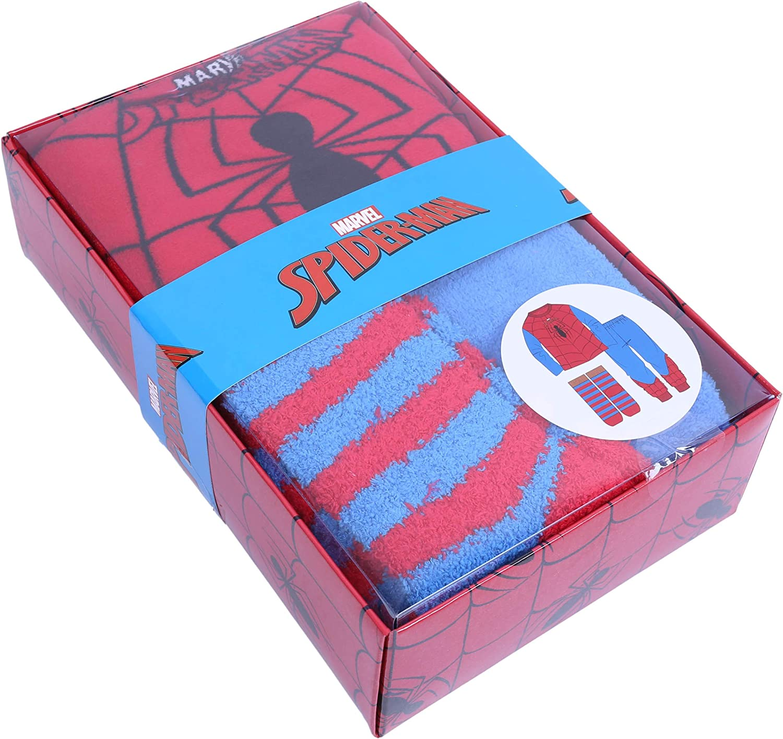 Rot-Blauer Schlafanzug Spiderman-Socken