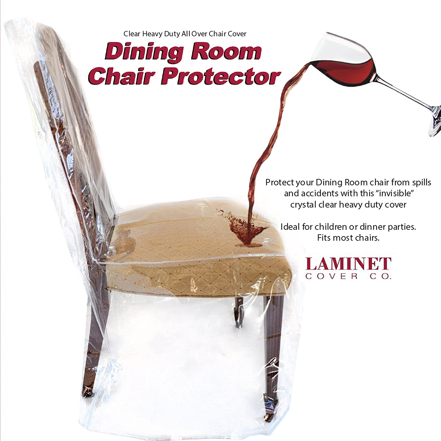 plastic seat covers dining room chairs | Furniture Protector Dining Room Chair Plastic Cover Clear ...