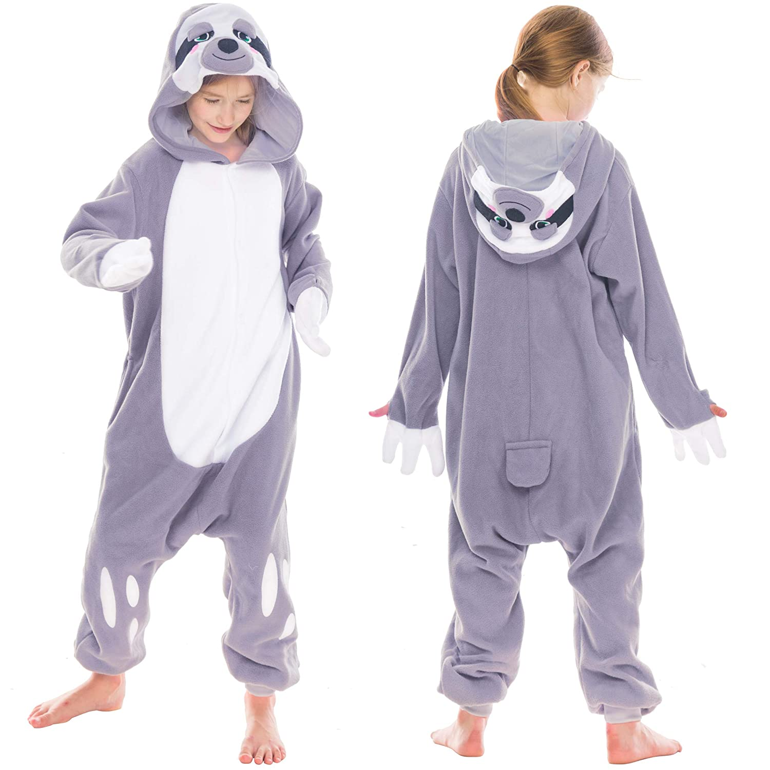 Amazon.com  Spooktacular Creations Unisex Child Pajama Plush Onesie One  Piece Sloth Animal Costume  Clothing 62cce7806