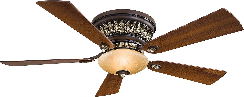 Minka-Aire F544-Bcw Flush Mount, 5 Bronze Blades Ceiling Fan mit 80 Watts Light, Belcaro Walnut