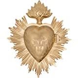 Sacred Heart, Metal Heart Milagro, Gold Heart Box, Ex Voto