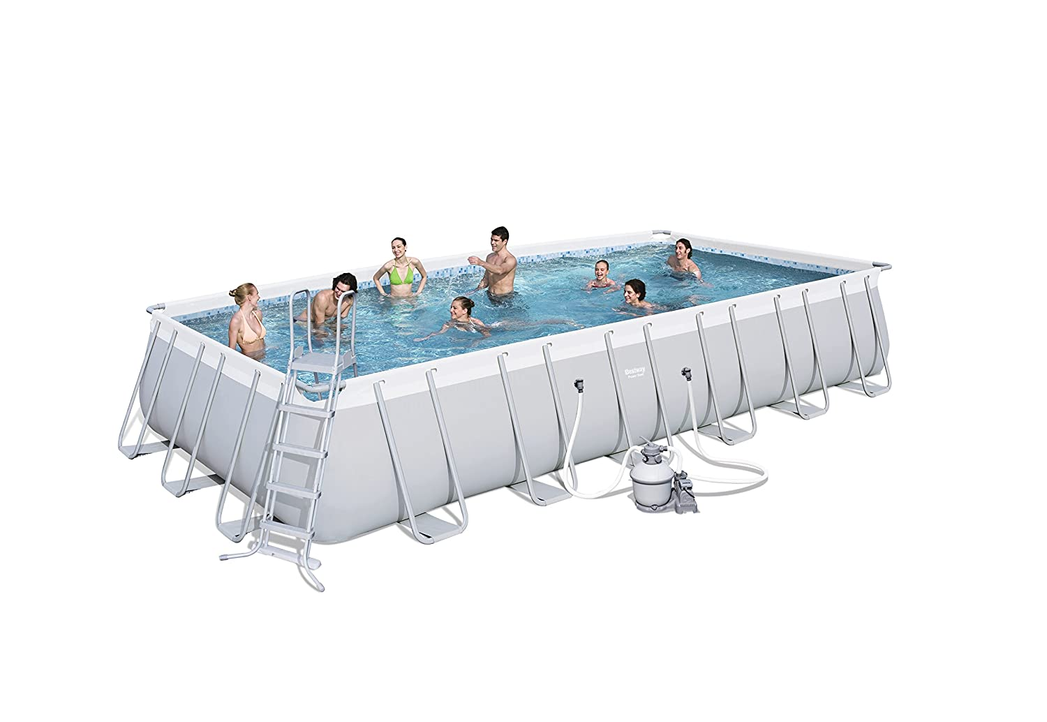 Best Way - Piscina power steel 671 x 366 x 132 cm + depuradora de arena bestway: Amazon.es: Jardín