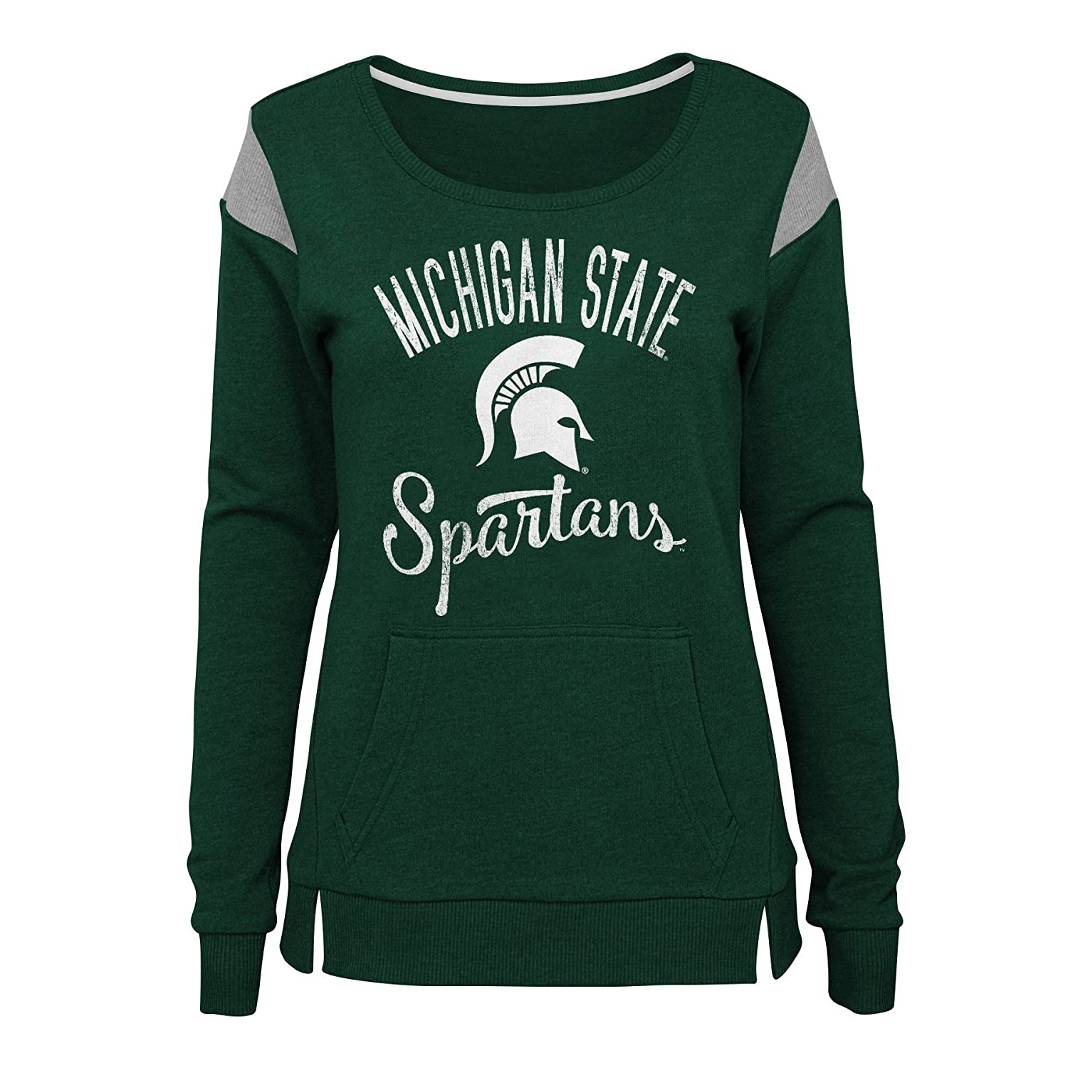 NCAA Michigan State Spartans Juniors Outerstuff Classic Crew Pullover Fleece Team color 15-17 X-Large