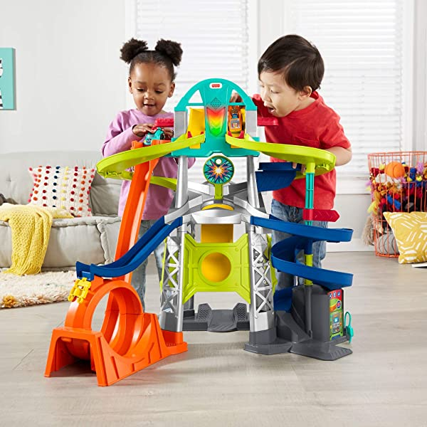 Fisher-Price Little People Launch & Loop Raceway racetrack playset for kids