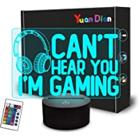YuanDian Gaming Night Light, Headset Graphic Video Games Gamer Lamp 16 Colors Changing Touch & Remote Control Home…