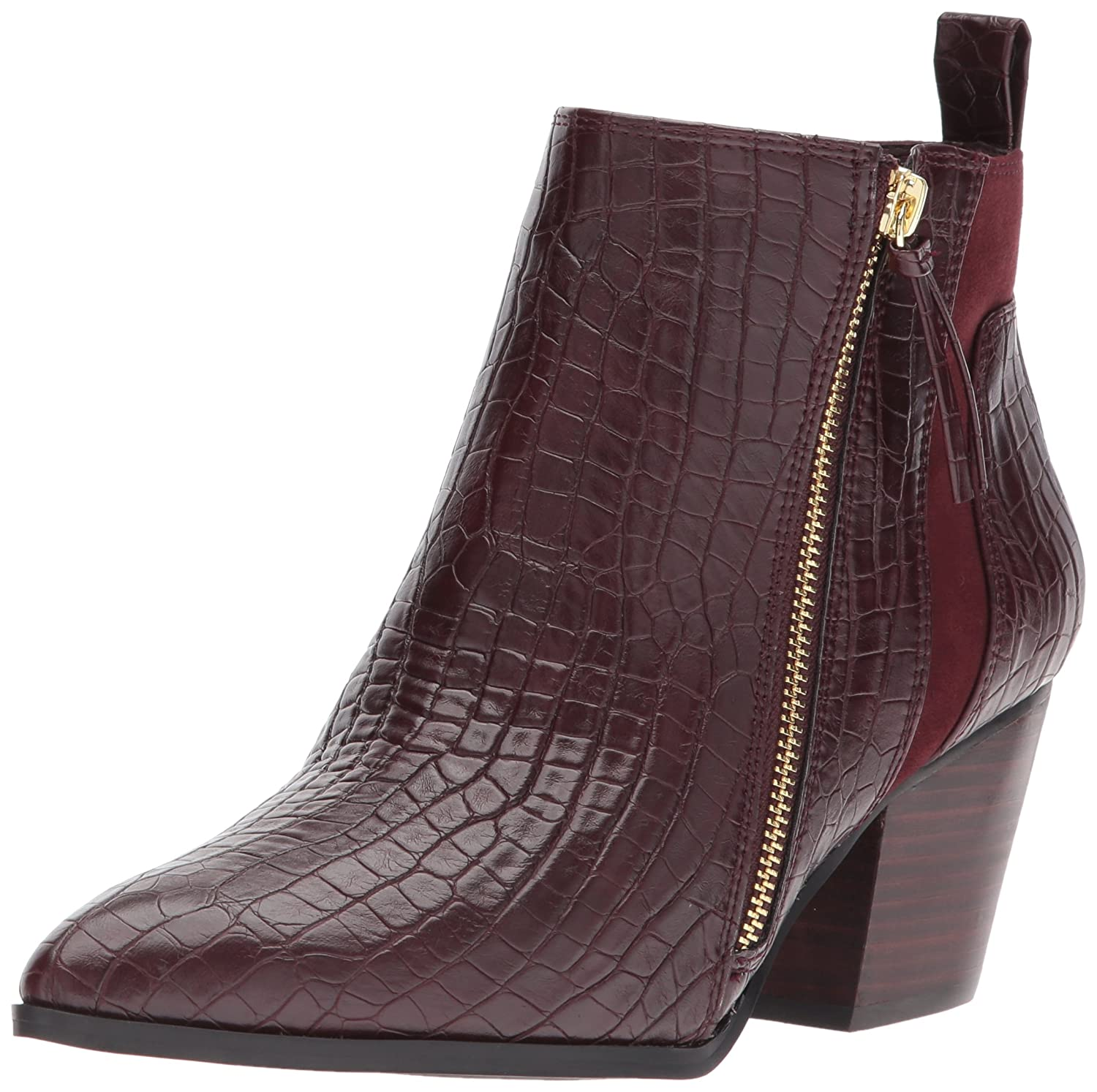 Bella Vita Women's Everest Ii Ankle Bootie B073NQ5S3P 10 2W US|Burgundy Croco