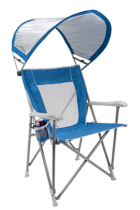GCI Waterside SunShade Folding Captainu0027s Beach Chair with Adjustable SPF Canopy  sc 1 st  Amazon.com : beach chair canopy - memphite.com