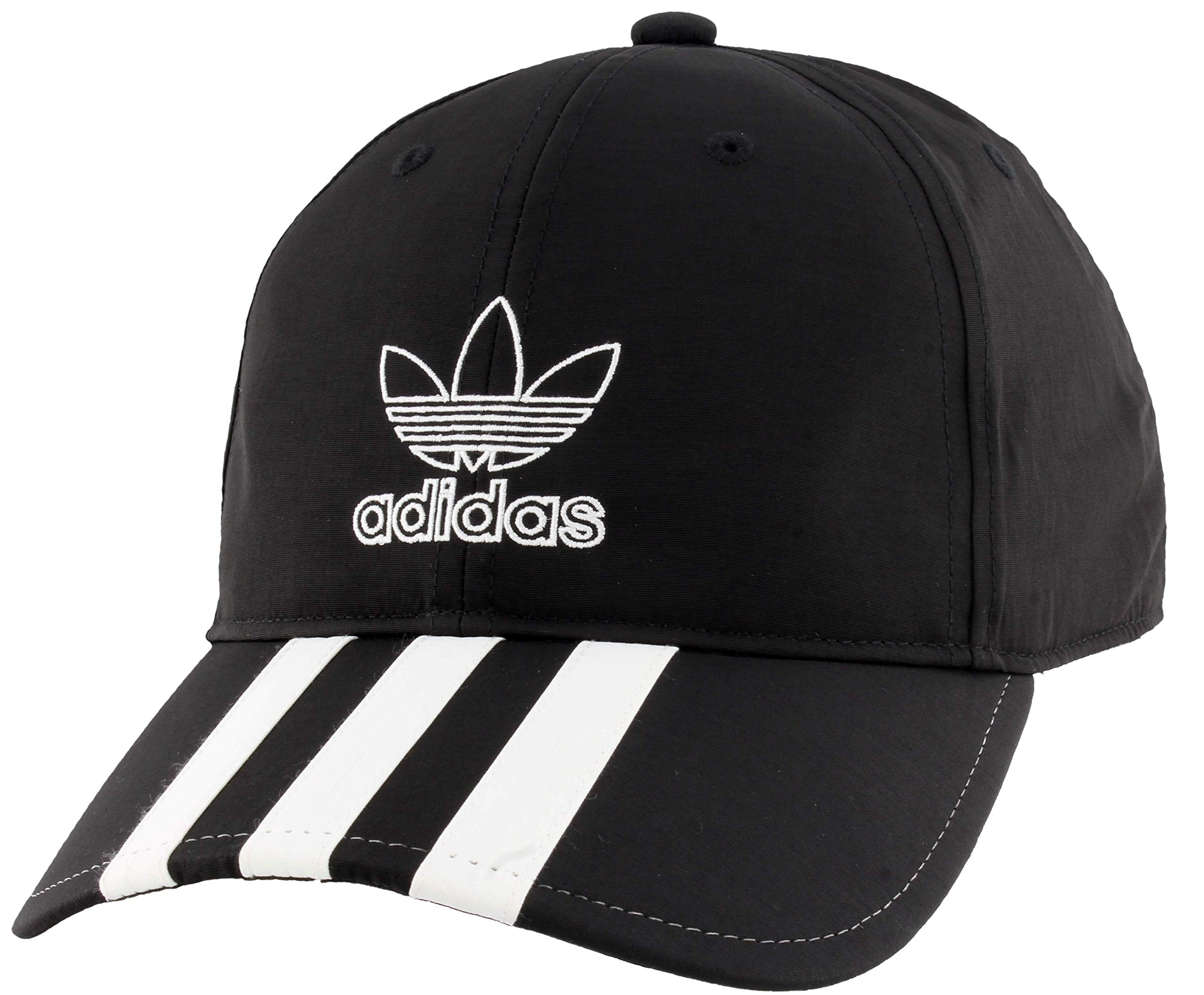 adidas Originals Men's Relaxed Applique Strapback Cap, Black/White, ONE SIZE by adidas