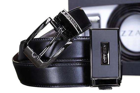 e28734122678 Azzaro - Ceinture Coffret 2 Boucles 725 Reversible Noir Marron - Couleur  Noir - Taille