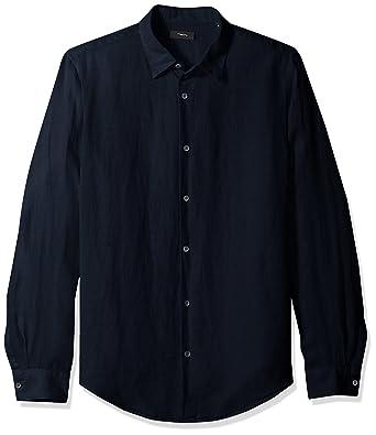 53a3d970f57 Amazon.com: Theory Men's Irving Summer Linen Shirting: Clothing