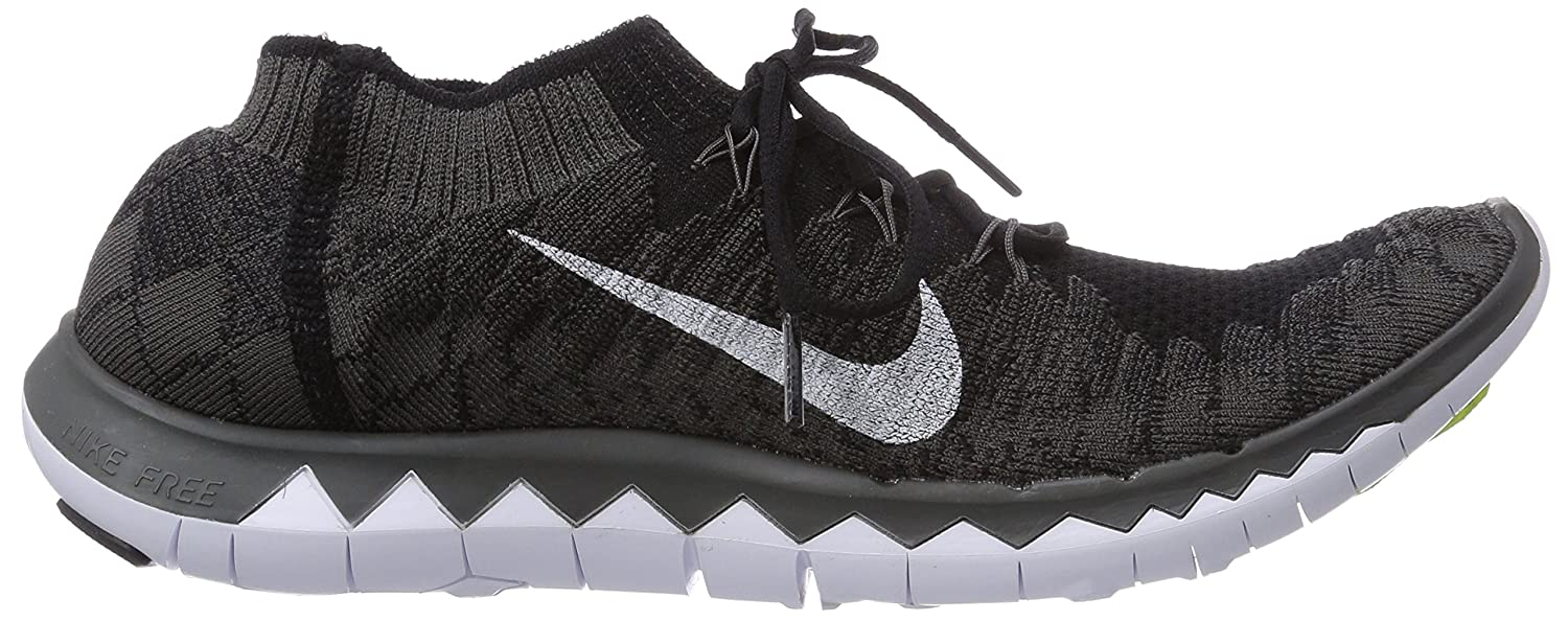 Nike Free 3.0 Flyknit, Men Running Shoes, Black (Black/White-Midnight Fog),  11 UK (46 EU): Amazon.co.uk: Shoes & Bags