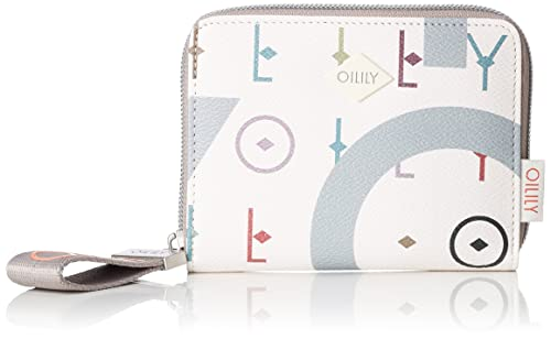 Oilily Jolly Letters Purse Mh10z, Portefeuilles femme, (Offwhite), 1x10x13 cm (B x H T)