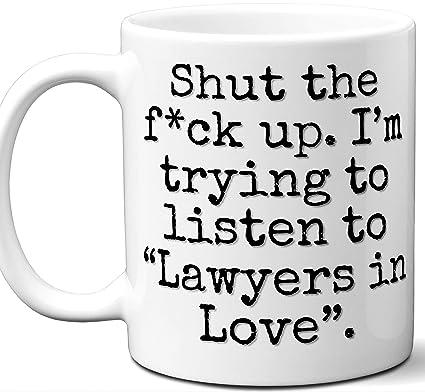 Amazon com: Lawyers in Love Song Gift Mug  Funny Parody