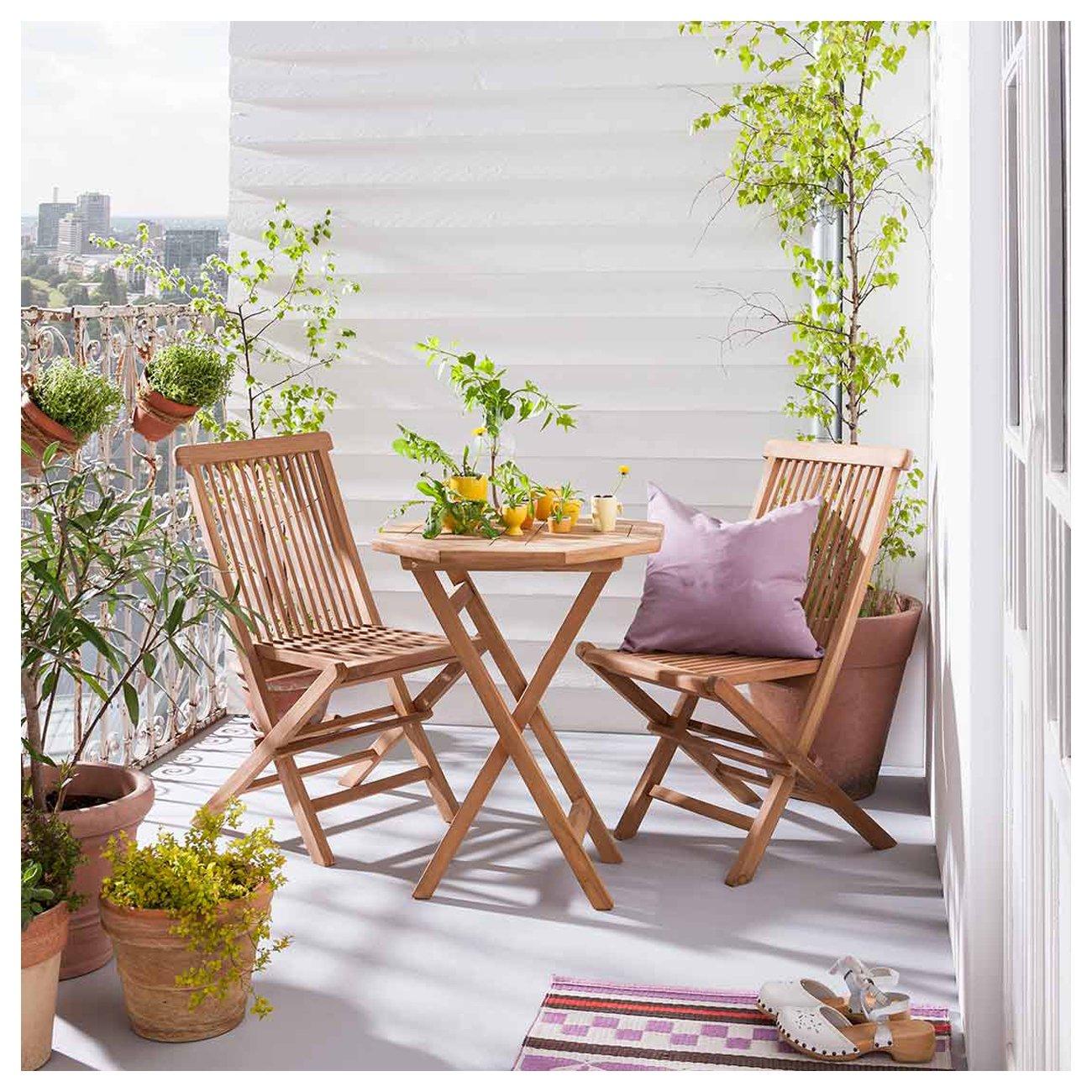 Balkonmöbel Set Holz OUTLIV. Seattle Gartenmöbelset Klein 3-teilig ...