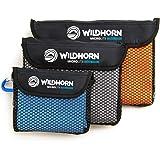 Microlite Microfiber Quick Dry Travel / Camping Towel 3 Pack - Large, Medium and Small Bundle