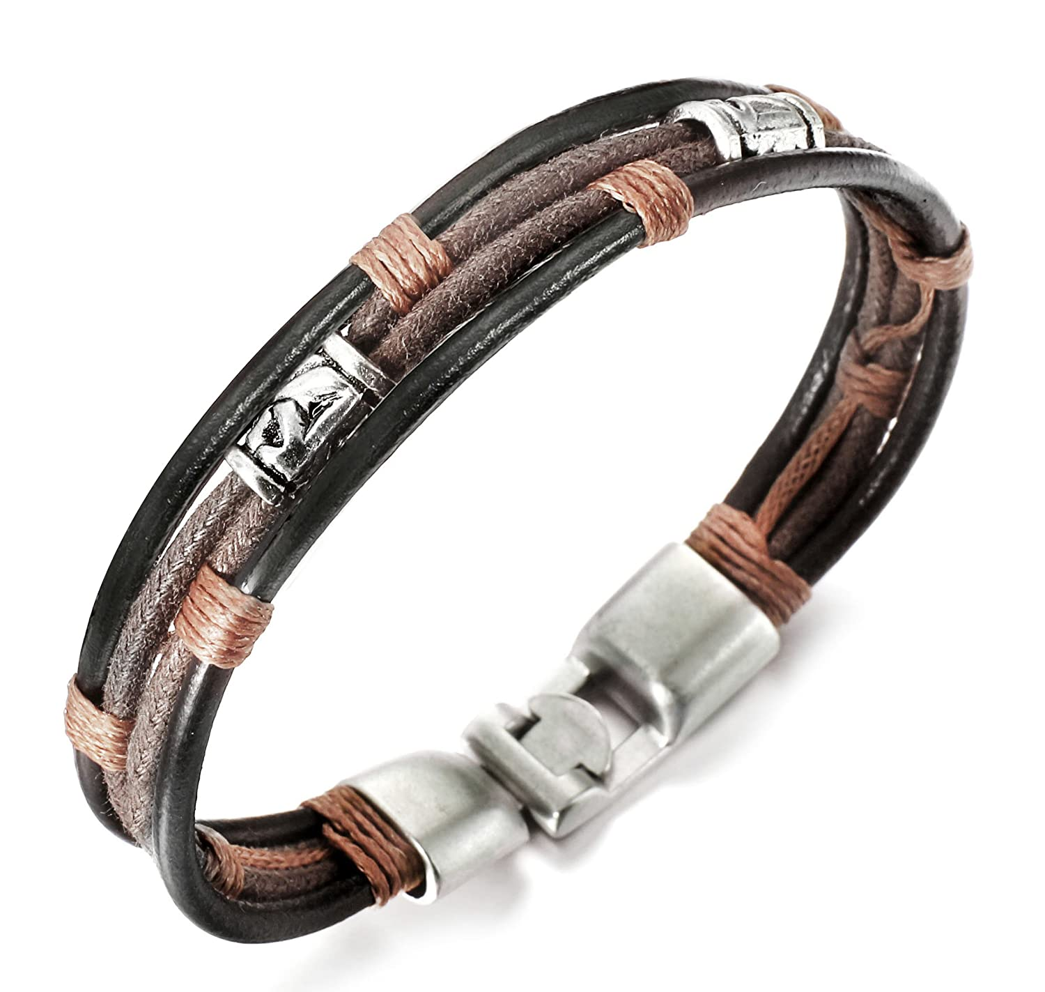 leather men s bracelet rope bracelets mens and product gentlemens