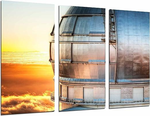 Cuadro Fotográfico Atardecer Telescopio Gran Canarias, Astronomia, España Tamaño total: 97 x 62 cm XXL: Amazon.es: Hogar