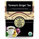 Organic Turmeric Ginger Tea - Kosher, Caffeine-Free, GMO-Free - 18 Bleach-Free Tea Bags