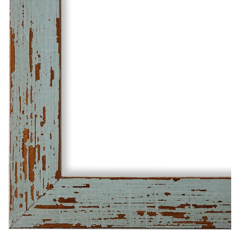 Online Galerie Bingold Bilderrahmen Türkis 70x100-70 x 100 cm - Modern, Shabby, Vintage - Alle Größen - Handgefertigt in Deutschland - WRF - Cremona 3,0