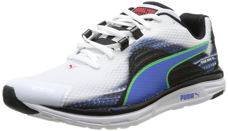 PUMA Men's Fass 500 v4 Running Shoes Sneakers 18752501 White-Blue-Blsck-Green B00P9EI0DQ 8.5 D(M) US|White