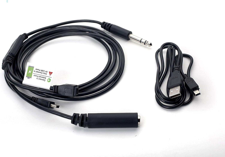 Airplane Cockpit Intercom ATC - Cable de grabación de radio con adaptador de cable de alimentación para GoPro Hero3 Hero3 + Hero4: Amazon.es: Electrónica