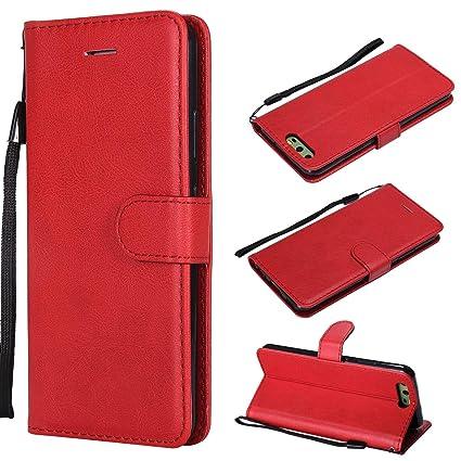 XCYYOO Funda Huawei P10 Lite Silicona, Huawei P10 Lite Carcasa Libro de Cuero con Tapa de Holster PU y Silicona Elegante,Ranuras de Tarjetas y ...