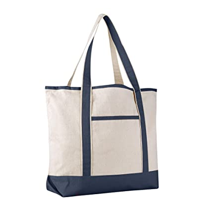 Amazon.com  BagzDepot (12 PACK) Heavy Duty Extra Large Canvas Tote ... 079eae845c6c